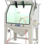 Pro-Lift-Werkzeuge Sandstrahlgerät 990 l Sandstrahlkabine Sandstrahler Frontklappe 990 Liter Industriestrahler Sandstrahlkabinett sand blaster Arbeitsplatz